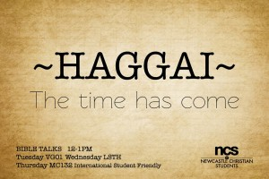 Haggai - The time has come