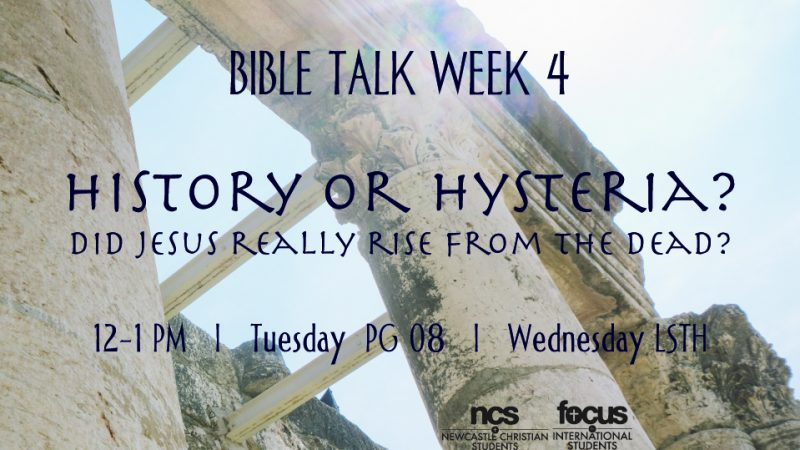 History or Hysteria? The Resurrection (Wednesday)